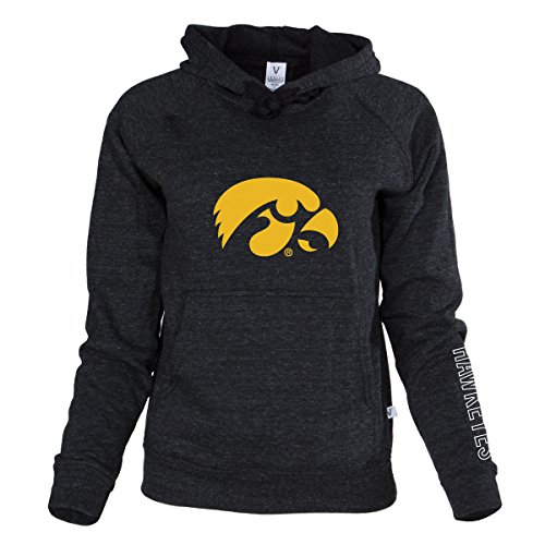 Venley NCAA Iowa Hawkeyes Buttersoft Tri-Blend Hoodie, X-Large, Tri-Onyx (Hoodie Iowa Hawkeyes)
