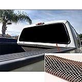 "FidgetFidget Sun Shade Pickup Truck Rear Window Decal Black Tint Sticker Waterproof 65"" x22"""