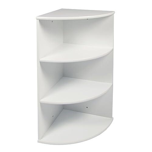 Ordinaire WoodLuv MDF 3 Tier Wall Mounted Corner Shelf Bathroom Cabinet Unit, 30 X 30