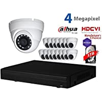Dahua 4MP Tribrid Security Package: 16CH 4MP Tribrid HCVR7216-4M (CVI AND IP and Analog ) w/3TB Security Hard Drive + (16) 4MP Outdoor HDCVI WDR IR HDW2401 3.6MM Eyeball (NO LOGO OEM Local Support)