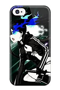 Snap-on Black Rock Shooter Case Cover Skin Compatible With Iphone 4/4s
