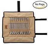 Sparik Enjoy TM Strong Duty Canvas Tent Nail Storage Bag Tent Stakes Pegs Durable Pouch Holder Case(Tent Pegs Not Included)-Hold Up To 20pcs Stakes