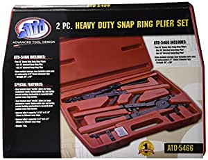 "Advanced Tool Design Model  ATD-5466 Heavy Duty 16"" Snap Ring Pliers Set"