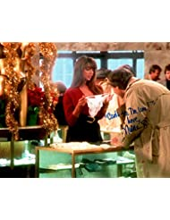 """NICOLETTE SCORSESE Autographed/Signed Chevy Chase/Christmas Vacation 8x10 Photo with Special Inscription """"Can't See the Line"""""""