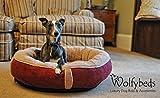 Wolfybeds Luxury Wraparound Fleece Dog Bed Size Medium