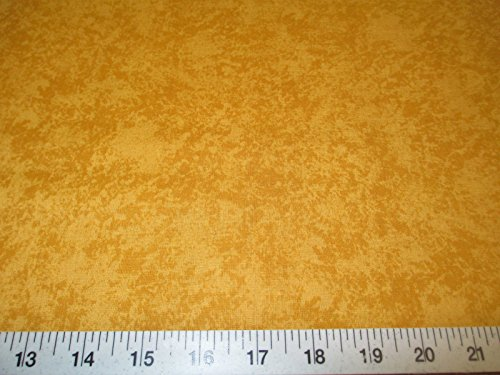 Discount Fabric Quilting Cotton Keepsake Calico Batik Gold Sponge T10