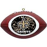 NFL New Orleans Saints Mini Replica Football Ornament
