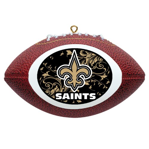 NFL New Orleans Saints Football Ornament