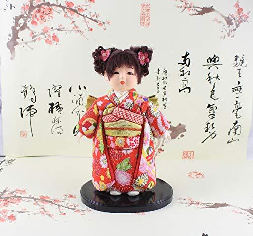Heartrace 24cm Handmade Doll Japanese Hina Ninsha Doll gofun Ichimatsu Girl's Day Gift