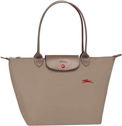Longchamp Le Pliage Club Large Shoulder Tote (Brown)