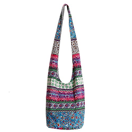 (Ethnic Style Bag Lady's Everyday Crossbody Shoulder Bags Women Tourist Cotton Fabric)