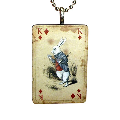UMBRELLALABORATORY Alice in Wonderland Necklace-Jewelry in Vintage Look Style Comes if Box ()