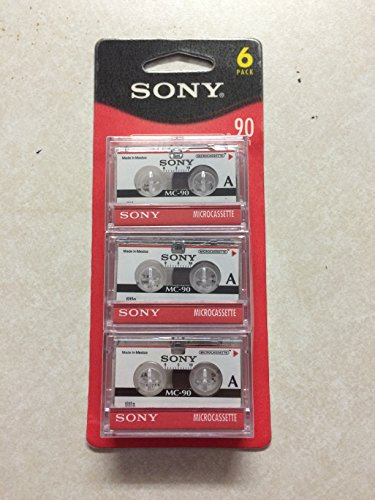 SONY mc90 Microcassette Audio Tapes 6 pack by Sony