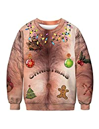URVIP Unisex Halloween Christmas 3D-Print Athletic Fashion Hoodies Sweatshirts