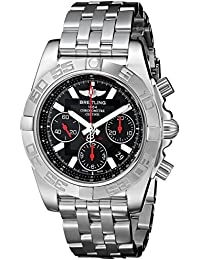 Mens AB014112/BB47 Chronomat Analog Display Swiss Automatic Silver Watch. Breitling