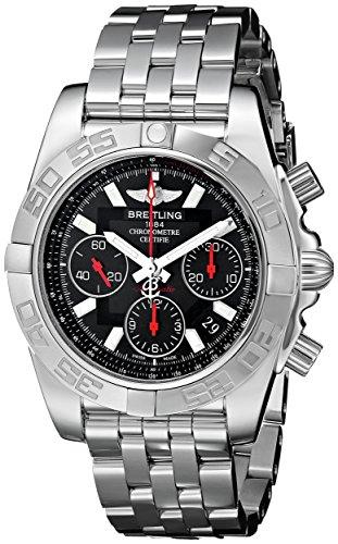 Breitling Men's AB014112/BB47 Chronomat Analog Display Swiss Automatic Silver Watch