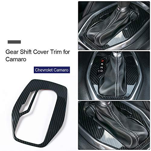 - Gear Shift Cover Trim Frame Decor Panel for Chevrolet Camaro 2017 2018 Accessorie s (Carbon Fiber Grain)
