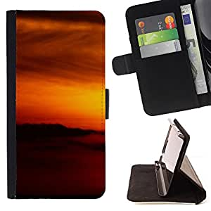 DEVIL CASE - FOR Apple Iphone 5 / 5S - Sunset Beautiful Nature 87 - Style PU Leather Case Wallet Flip Stand Flap Closure Cover