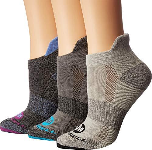 (Merrell Women's 3 Pack Performance Low Cut Tab Socks, Black Marl, S/M)