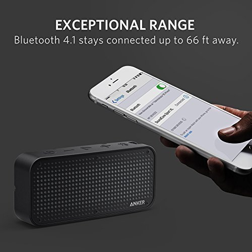 Anker SoundCore Sport XL Portable Bluetooth Speaker with 16W Audio Output and 2 Subwoofers, IP67 Waterproof & Dustproof, Shockproof, 66ft Bluetooth Range, 15H Playtime, Built-in Mic, USB Charging Port