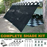 Amazon Com Rv Awning Shade Kit Rv Shade 8x16 Black