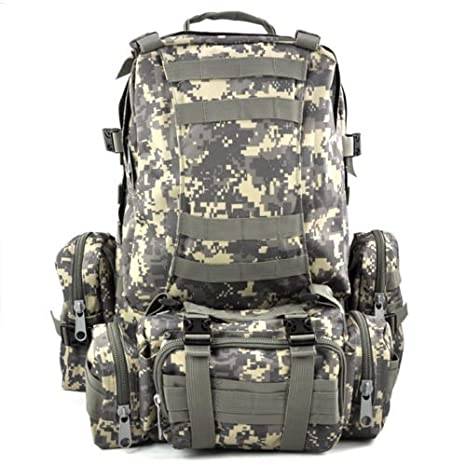 7ae87eb3b0a0 Image Unavailable. Image not available for. Color  SODIAL(R) 50 L 3 Day  Assault Tactical Outdoor Military Rucksacks Backpack Camping bag