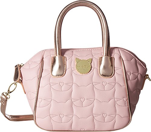 Luv Betsey Women's Quinn Mini Size PVC Satchel Blush One (Mini Satchel)