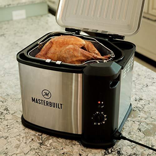 Electric turkey fryer makes juicy meat