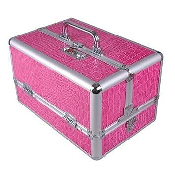 Amazoncom Professional Pink Makeup Artist Case Aluminum Frame Pro