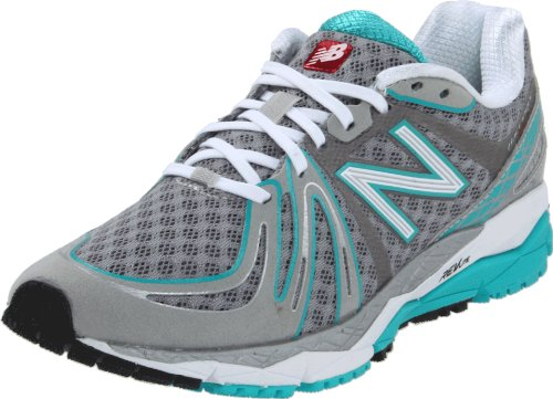 New Balance Womens W890v2 Neutral Running Shoe Silver/Teal