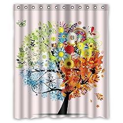 Yestore Superior Custom Autumn WaterProof Polyester Fabric 60 x 72 Shower Curtain