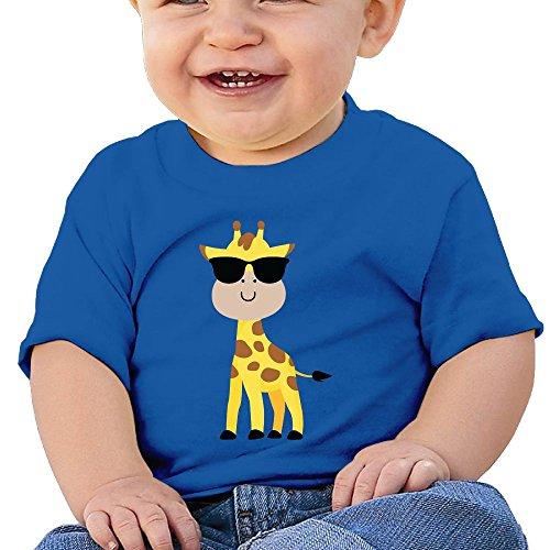 Quzim T Shirts For Kids Tshirt For Toddler Baby Boys Girls Short Sleeve Giraffe Cute Sunglasses - Boss Sunglasses Baby