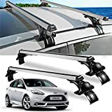 TOHUU Universal Aluminum 48'' Car Roof Rack Cross Bar Bar Luggage Cargo Rack Rails Carrier Set with Lock Luggage Roof Racks for Car Vehicles SUV Pickup- 2Pack