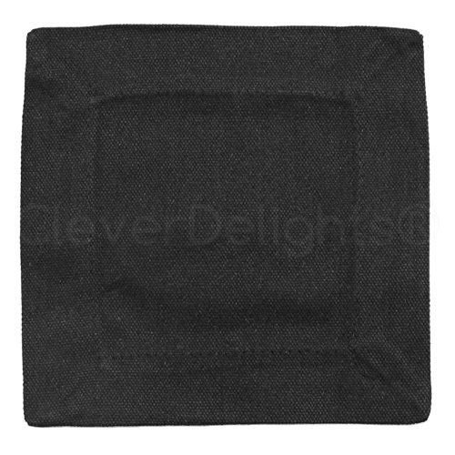 (12 Pack - CleverDelights Black Cocktail Napkins - 100% Cotton Canvas - 6