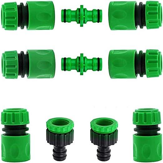 CZSYZCZS - Conectores de grifo de plástico para jardín, 10 conectores de manguera.: Amazon.es: Jardín