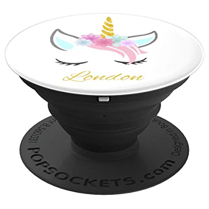Amazon London Pop Socket Personalized Name Unicorn Birthday