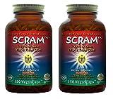 HealthForce SuperFoods Scram - 150 Vegan Capsules - All Natural Internal Parasite Cleanse, Anti Fungal, Anti Yeast - Non GMO, Gluten Free - 2 Pack