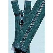 """25\"""" Vislon Zipper ~ YKK #5 Molded Plastic Sport Zipper ~ Separating - S557 Tall Grass Blue (1 Zipper/ Pack)"""