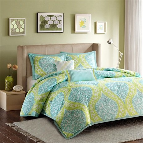 Intelligent Design Senna Comforter Set - Aqua - Twin/Twin XL