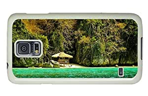 Hipster Samsung Galaxy S5 Case protective Palawan Philippines PC White for Samsung S5