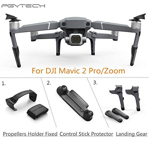 XSD MODEL PGYTECH Silicone Clip Propellers Motor Holder Fixed+Control Stick Protector+Landing Gear Extension for DJI Mavic 2 Pro/Zoom