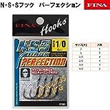 ハヤブサ(Hayabusa) シングルフック NSSフック パーフェクション 1/0号 4本 ブラックニッケル FF203