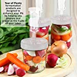 Year of Plenty Fermentation Lids for Making Sauerkraut in Wide Mouth Mason Jars, Set of 4, Includes Instructions and Recipe ... 14 Set includes 4 air locks, 4 sturdy clear screw-on lids for wide mouth mason jars, 4 silicone gaskets, 4 grommets, 1 (2-sided) instruction/recipe sheet. All components are BPA-Free. Use the sturdy, handsome storage case to improve organization in your kitchen. Makes an excellent gift for the fermentation expert in your life. Begin making tasty, healthy sauerkraut, kimchi, ginger carrots, pickles and other fermented foods with safety and ease