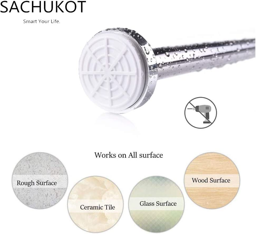 SACHUKOT Shower Curtain Rod, 40-76 Inches Adjustable