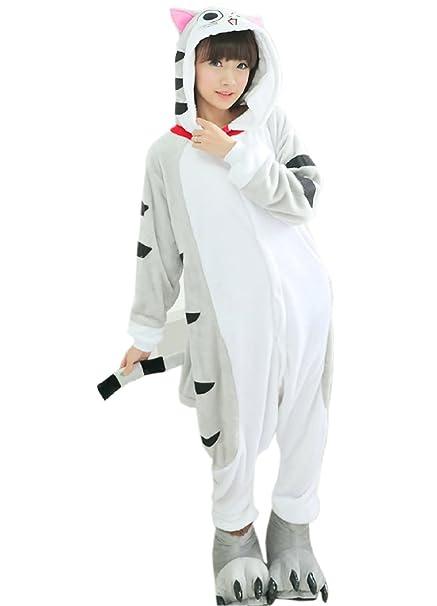 XueXian(TM) Hombres Mujeres de Dibujos Animados Vestido Pijamas de Franela Ropa(China