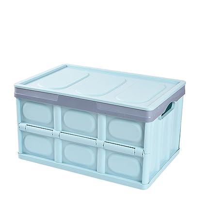 Rziioo Cajas Plegables/Que Doblan del Almacenaje, Proporcionando Las Cajas De Almacenaje Plásticas Amontonables