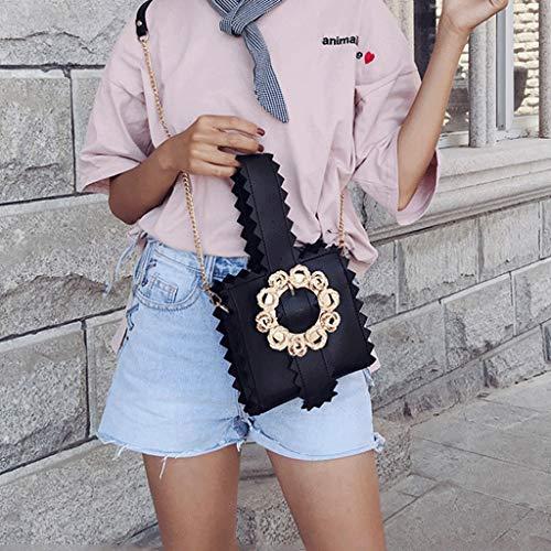 Sac bandoulière Crossbody plage Leisure Femme Fleurs Black de Bag Portable Bag Kaki Sac Sacs Couleur Sacs voyage à Lady de mode GJ de dEPqSzWd