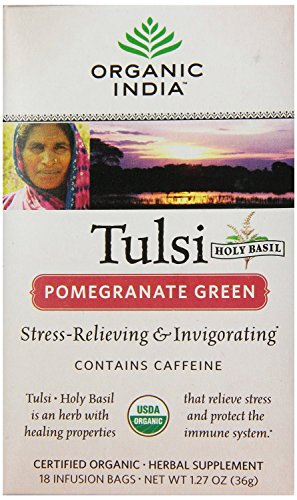 Organic India Tea Tulsi Pmgrnt Grn by ORGANIC INDIA