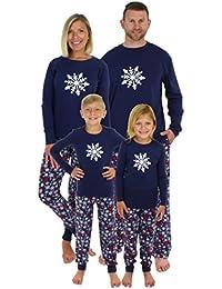 Holiday Family Matching Winter Navy Snowflake Pajama PJ Sets
