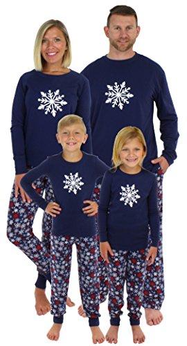 Sleepyheads Holiday Family Matching Winter Navy Snowflake Pajama PJ Sets - Mens
